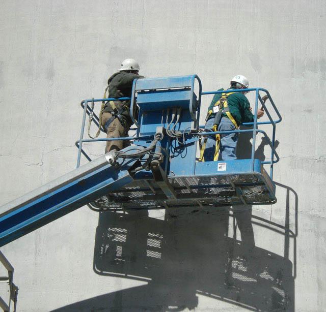 Concrete silo inspection process