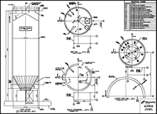 Sample Silo Design Drawings | Lime Silos | Fly Ash Silos